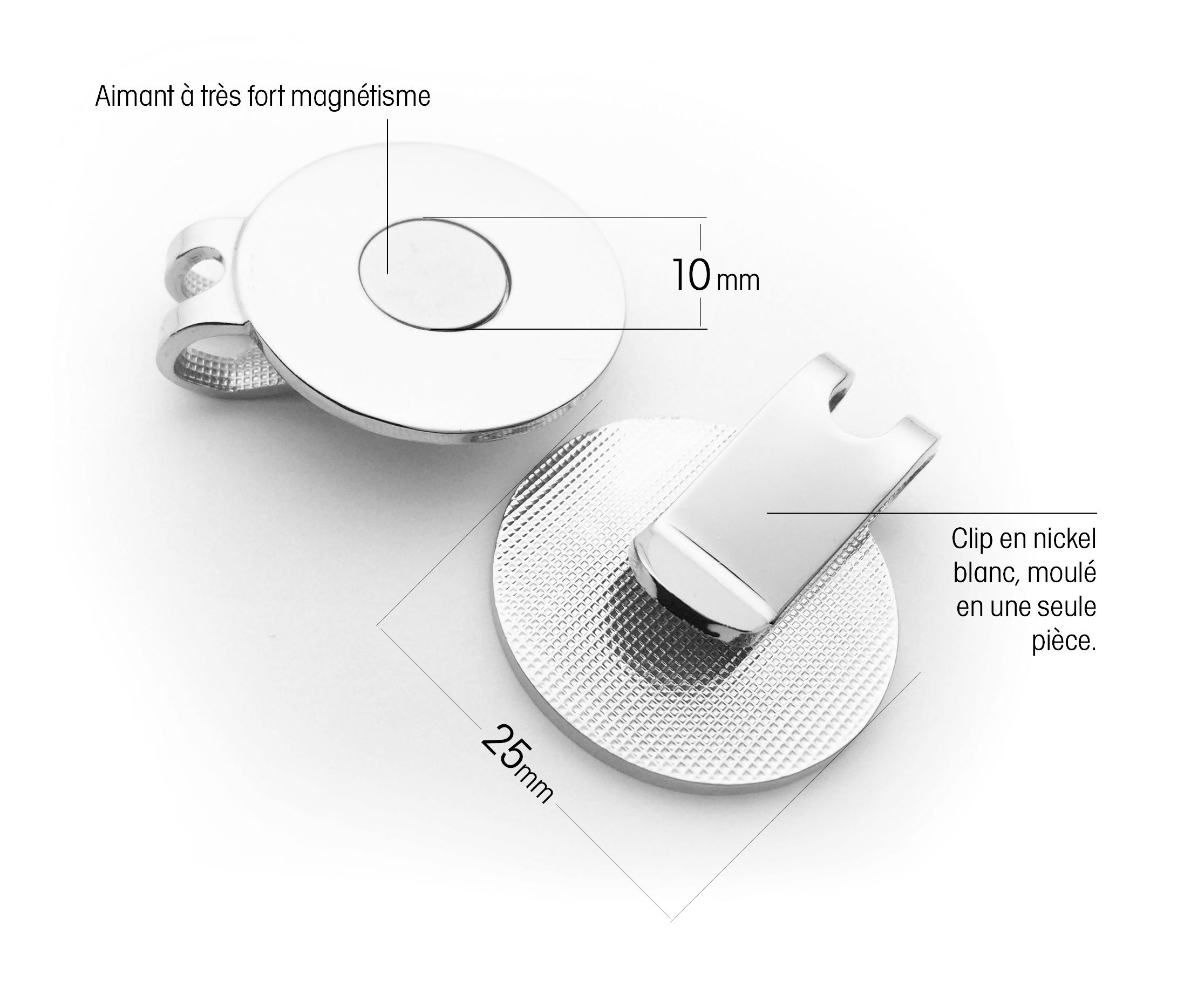 Clip casquette magnétique